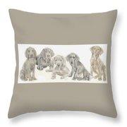 Weimaraner Puppies Throw Pillow