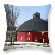 Welch Round Barn Throw Pillow
