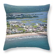 Welcome Aboard Surf City Topsail Island Throw Pillow