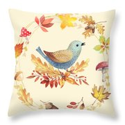 Welcome Back Autumn Throw Pillow
