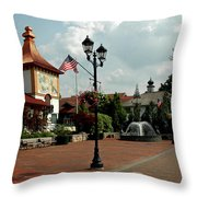 Welcome Center At Frankenmuth Throw Pillow