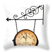 Welcome Clock.11 Am Throw Pillow