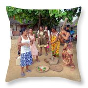 Welcome Committee Throw Pillow
