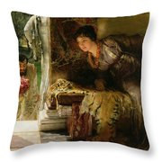 Welcome Footsteps Throw Pillow by Sir Lawrence Alma-Tadema