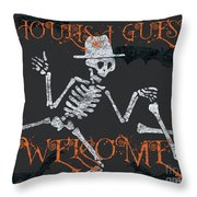 Welcome Ghoulish Guests Throw Pillow