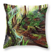 Welcome Paths Throw Pillow