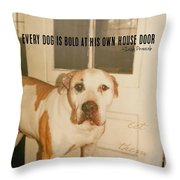 Welcome Quote Throw Pillow