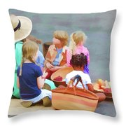 Welcome The Children Throw Pillow