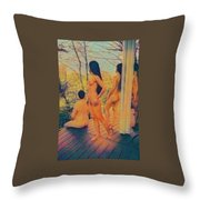 Welcome The Dusk Throw Pillow
