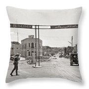 Welcome To Bethlehem Throw Pillow