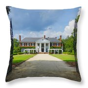 Welcome To Boone Hall Throw Pillow