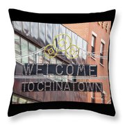 Welcome To Chinatown Sign In Manhattan Throw Pillow