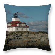Welcome To Egg Rock Throw Pillow