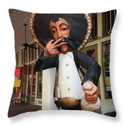 Welcome To El Mercado Throw Pillow