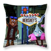 Welcome To Fabulous Hersheys Sign Throw Pillow