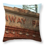 Welcome To Fenway Park Throw Pillow