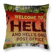Welcome To Hell Throw Pillow