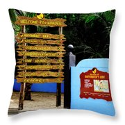 Welcome To Labadee Throw Pillow