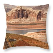 Welcome To Lake Powell Throw Pillow