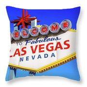 Welcome To Las Vegas Sign Only Boulder Highway Day Throw Pillow