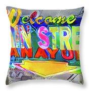 Welcome To Main Street Manayunk - Philadelphia Throw Pillow