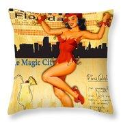 Welcome To Miami Throw Pillow