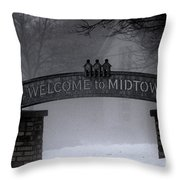 Welcome To Midtown Throw Pillow