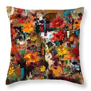 Welcome To My Flower Garden Throw Pillow