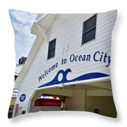 Welcome To Ocean City Maryland Throw Pillow