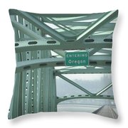 Welcome To Oregon Throw Pillow