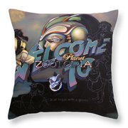 Welcome To Planet Zootopia Wip Throw Pillow