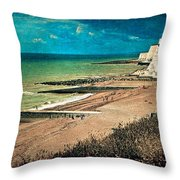 Welcome To Saltdean An Imaginary Postcard Throw Pillow