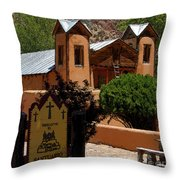Welcome To Santuario De Chimayo Throw Pillow