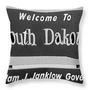 Welcome To South Dakota  Throw Pillow