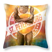 Welcome To St. Petersburg Throw Pillow