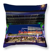 Welcome To The Fest Throw Pillow by CJ Schmit