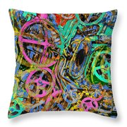 Welcome To The Machine Green Throw Pillow
