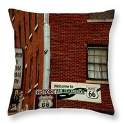 Welcome To The Main Street Of America Throw Pillow