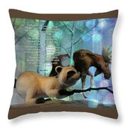 Welcome To The Night Throw Pillow