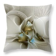 Welcome To The Second Floor-fractal Art Throw Pillow
