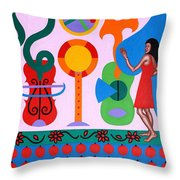Welcome To The Show Throw Pillow