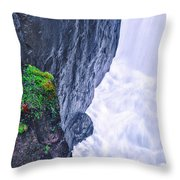 Welcome To The White Area Throw Pillow