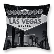 Welcome To Vegas Xi Throw Pillow