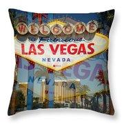 Welcome To Vegas Xiii Throw Pillow