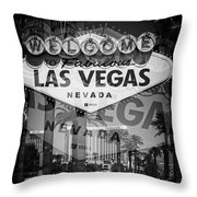 Welcome To Vegas Xiv Throw Pillow