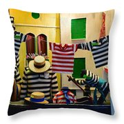Welcome To Venice Throw Pillow