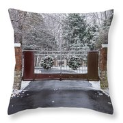 Welcome To Winter Throw Pillow