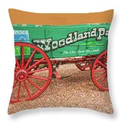 Woodland Park, Colorado, The City Above The Clouds, Elevation 8500 Feet, 2590 Meters Above Sea Level Throw Pillow