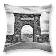 Welcome To Yellowstone Too Throw Pillow