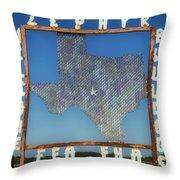 Welcome To Zephyr Texas Throw Pillow
